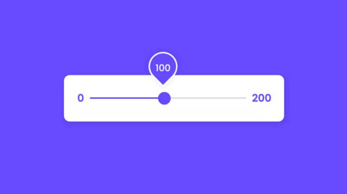 Custom Animated Range Slider using HTML CSS & JavaScript