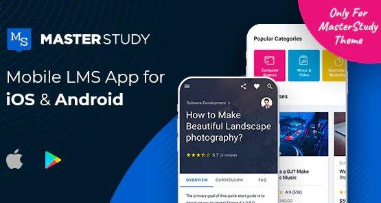 MasterStudy LMS Mobile App - Flutter iOS & Android v1.1.0