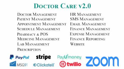 Doctor Care - Diagnostic Center / Doctors Chamber Management System v3.0