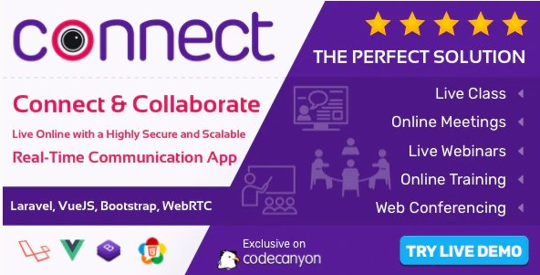 Connect - Live Class, Meeting, Webinar, Online Training & Web Conference v1.0
