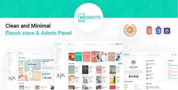 Booksto - Ebook Admin & Shop Template