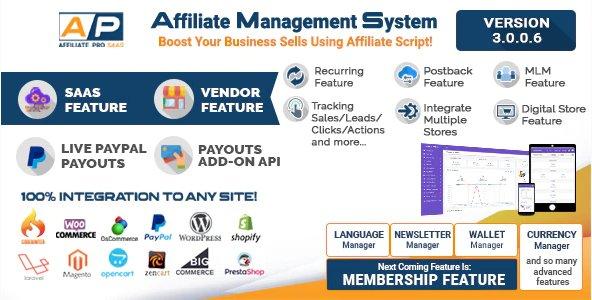 Affiliate Management System v3.0.0.6