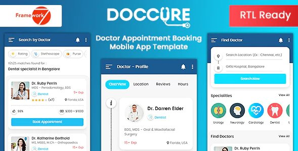 Doctor Appointment Booking Mobile App Template - Bootstrap