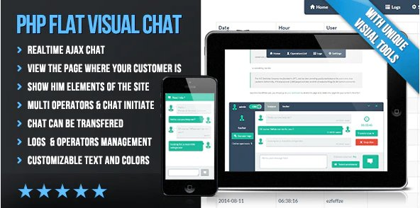 PHP Flat Visual Live Chat v4.231 Nulled