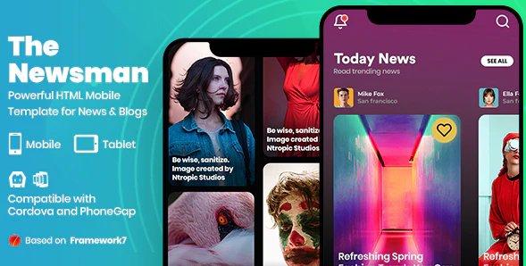 Newsman - News & Magazine Mobile Template