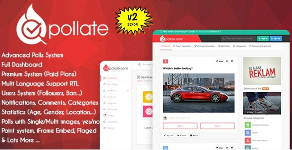 Pollate - Premium Polls and Voting Platform v2.0 Nulled