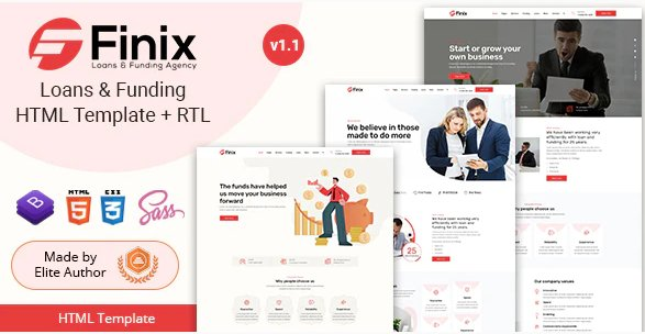 Finix - Loans & Funding HTML Template