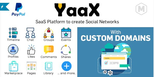 YaaX - SaaS platform to create social networks - With Custom Domains v1.2.5 Nulled