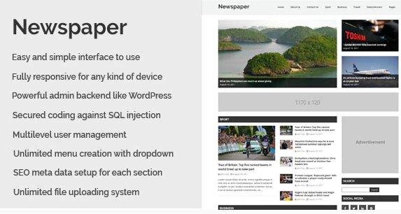 Newspaper - Responsive Newspaper CMS Script v1.2