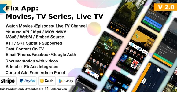 Flix App Movies – TV Series – Live TV Channels – TV Cast