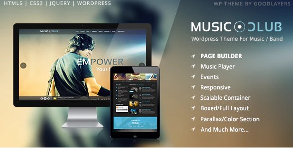 Music Club - Band Party Wordpress v1.8.1