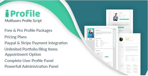 iProfile - Multiuser Profile & Resume Script (SASS) v1.6