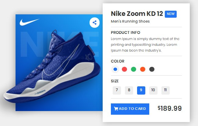 Product card html css