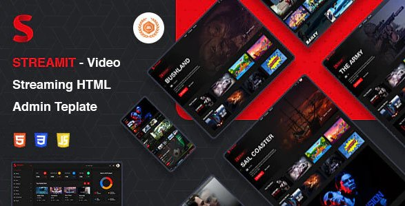 Streamit - Video Streaming HTML Admin Template
