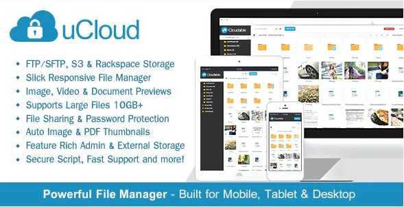 uCloud - File Hosting Script - Securely Manage, Preview & Share Your Files v2.0.1