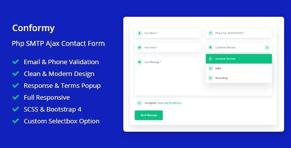 Conformy - PHP Ajax Modern Contact Form v1.0