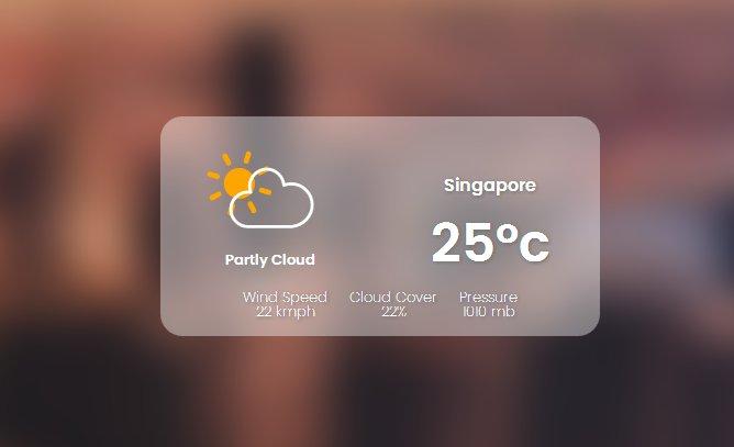 Weather Widget HTML CSS