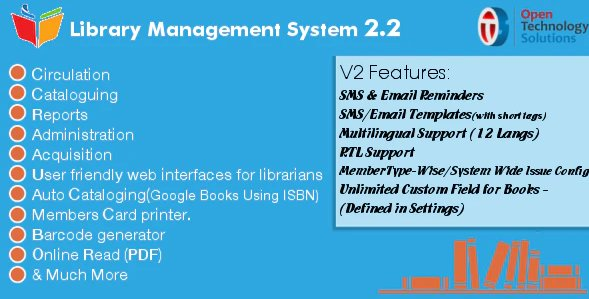 Library Management System 2.3 Nulled