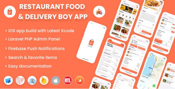 Single restaurant iOS food ordering app with Delivery Boy and Admin Panel v3.0