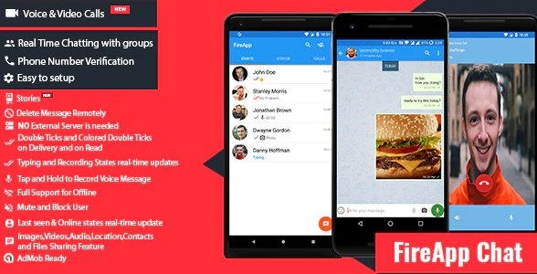 FireApp Chat - Android Chatting App with Groups Inspired by WhatsApp v1.3.1