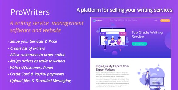 ProWriters - Sell writing services online v1.5 Nulled