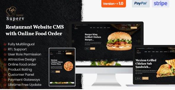 Superv - Restaurant Website CMS & Management System with Food Order v1.0