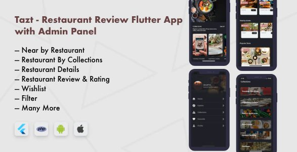 Restaurant Review Flutter App with Admin Panel v1.0.0