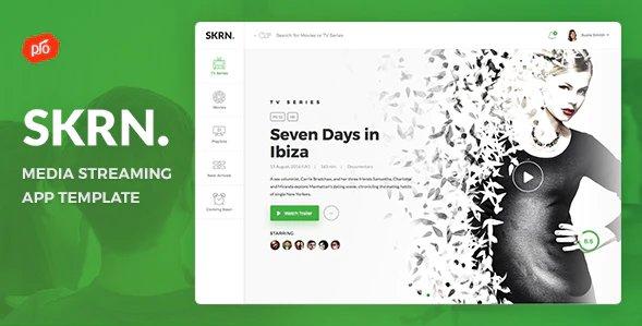 SKRN - Media Streaming App HTML Template