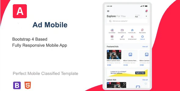 Ad Classified Mobile HTML Template Nulled