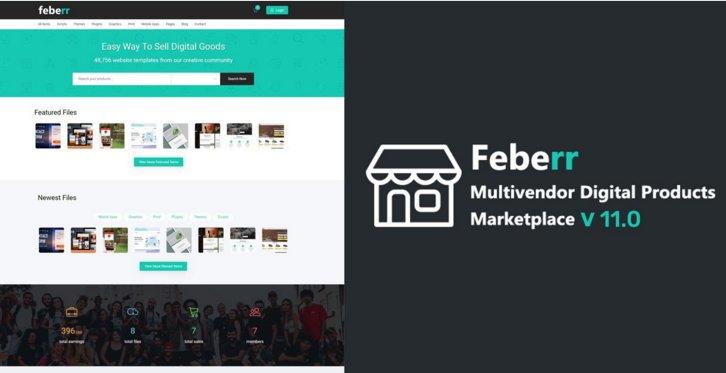 Feberr - Multivendor Digital Products Marketplace v11.0