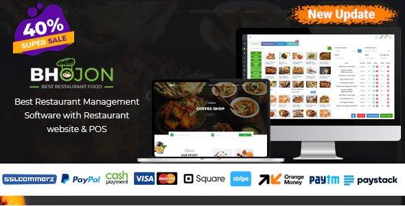 Bhojon - Best Restaurant Management Software with Restaurant Website v2.5 Nulled