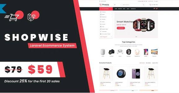 Shopwise - Laravel Ecommerce System v1.0 Nulled