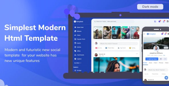 Simplest - Online Community HTML Template