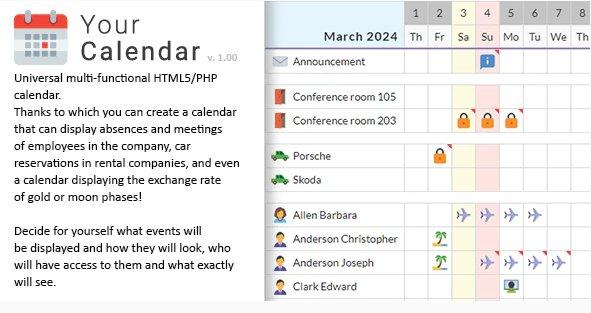 Your Calendar - Universal multi-functional calendar. v1.0