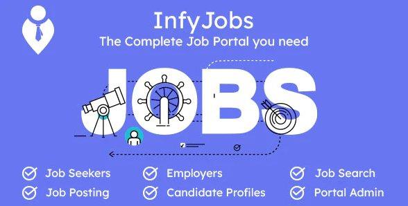 InfyJobs - Laravel Job Portal Script with Website v2.1.0 Nulled