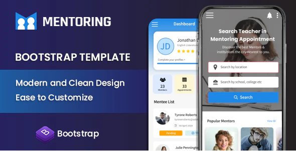 Mentring - Bootstrap HTML Template