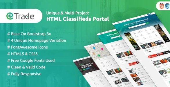 Trade - Modern Classified Ads HTML Template v1.5 Nulled