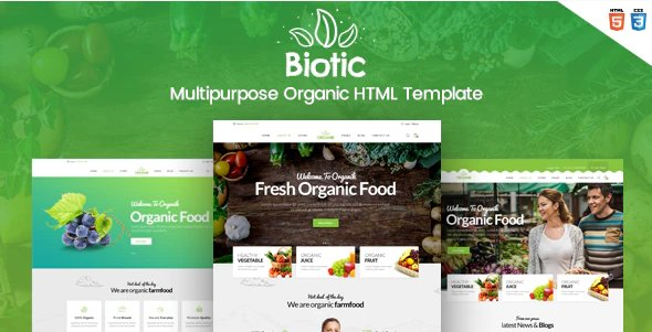 Biotic - Organic Food - Products HTML Template Nulled