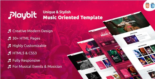 Playbit - Bootstrap Music Template HTML