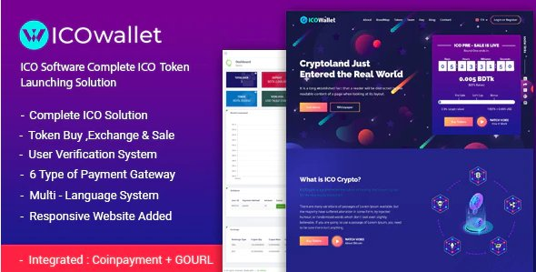 ICOWallet- ICO Script | Complete ICO Software and Token Launching Solution v1.4 Nulled