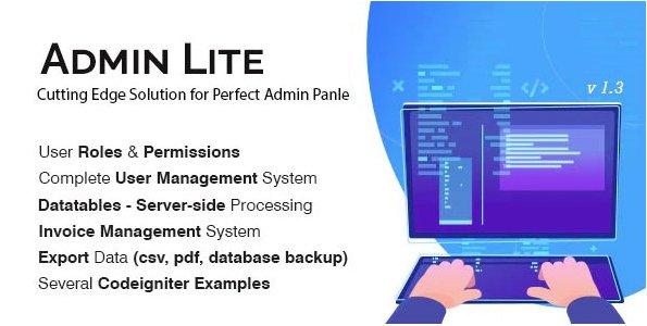 Admin Lite - PHP Admin Panel + Benutzerverwaltung v2.1
