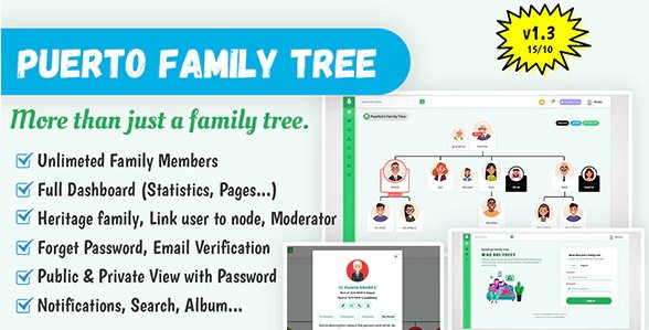 Puerto Family Tree Builder v1.3 Nulled