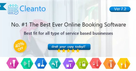 Online bookings management system for maid services and cleaning companies - Cleanto v7.4