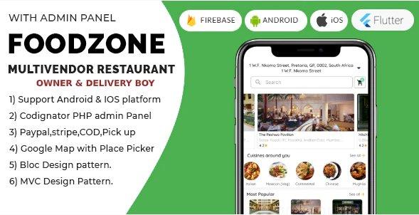 FoodZone Multivendor Mobile Application v4.0.0