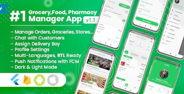 Owner / Vendor for Groceries, Foods, Pharmacies, Stores Flutter App v1.2.0