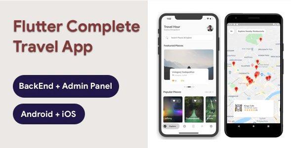Flutter Travel App with Admin Panel - Travel Hour v3.0.0