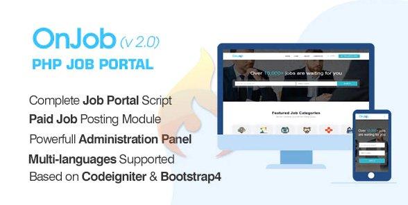 OnJob - PHP Job Portal Application v2.2