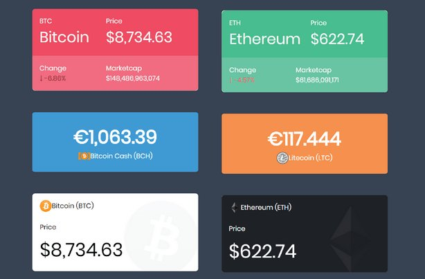 Massive Cryptocurrency Widgets - PHP/HTML Edition v1.3.1 Nulled
