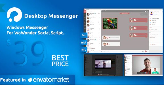 WoWonder Desktop - A Windows Messenger For WoWonder Social Script v3.1 Nulled