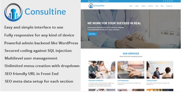 Consultine - Consulting, Business and Finance Website CMS v1.6